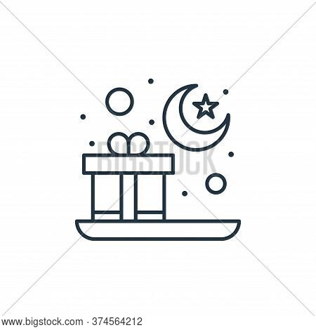 gift icon isolated on white background from islam and ramadan collection. gift icon trendy and moder