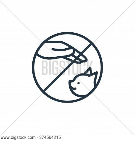 pets icon isolated on white background from stop virus collection. pets icon trendy and modern pets