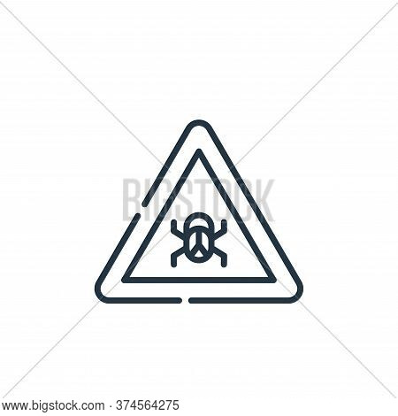 bug icon isolated on white background from hacker collection. bug icon trendy and modern bug symbol