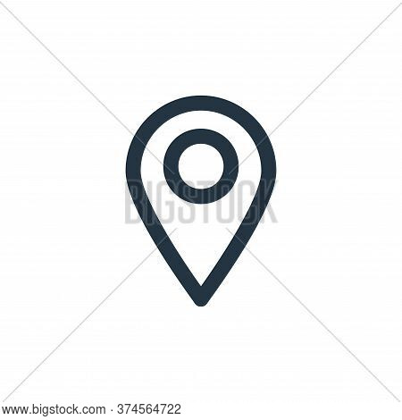 pin icon isolated on white background from user interface collection. pin icon trendy and modern pin