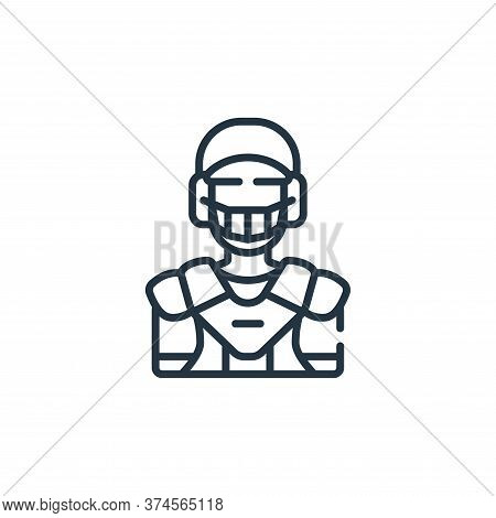 catcher icon isolated on white background from baseball collection. catcher icon trendy and modern c