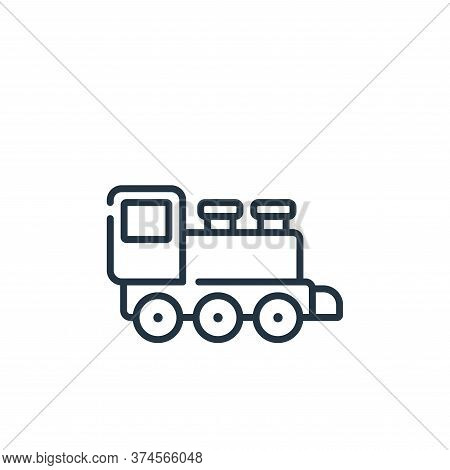train toy icon isolated on white background from children toys collection. train toy icon trendy and