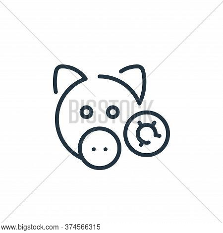 pig icon isolated on white background from virus transmission collection. pig icon trendy and modern