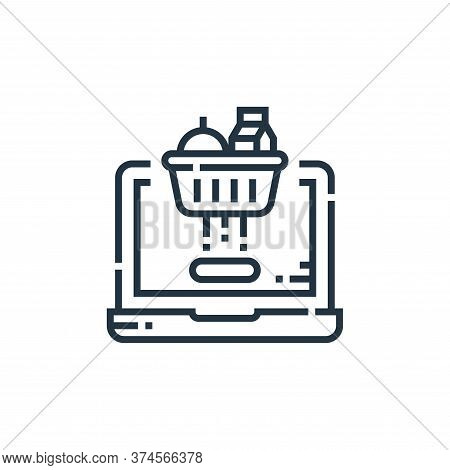 shopping cart icon isolated on white background from delivery collection. shopping cart icon trendy
