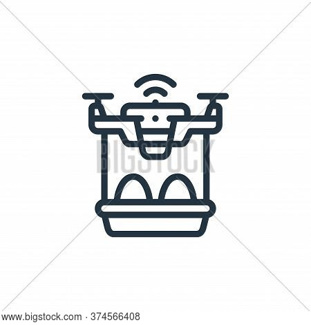 drone icon isolated on white background from smart farm collection. drone icon trendy and modern dro