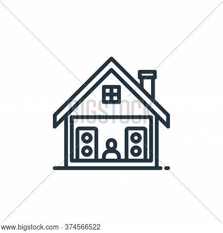 music icon isolated on white background from stay at home collection. music icon trendy and modern m