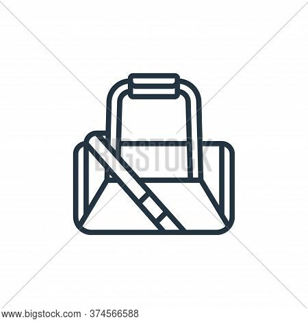 gym bag icon isolated on white background from fitness collection. gym bag icon trendy and modern gy