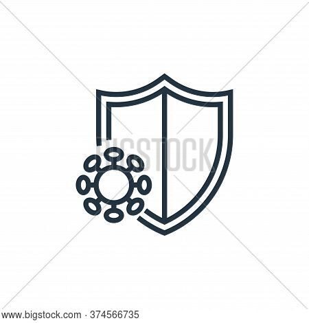 immune system icon isolated on white background from pandemic novel virus collection. immune system