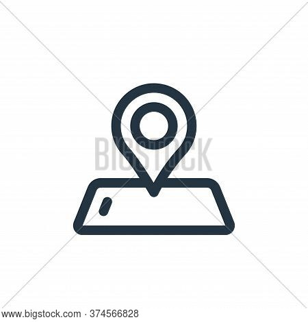gps icon isolated on white background from virtual reality collection. gps icon trendy and modern gp