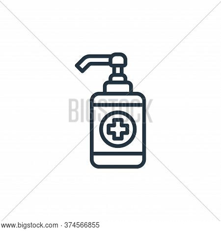 alcohol gel icon isolated on white background from coronavirus collection. alcohol gel icon trendy a
