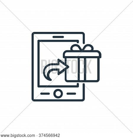 ecommerce icon isolated on white background from shopping line icons collection. ecommerce icon tren