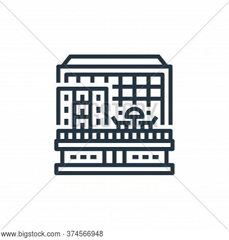 hotel icon isolated on white background from travel collection. hotel icon trendy and modern hotel s
