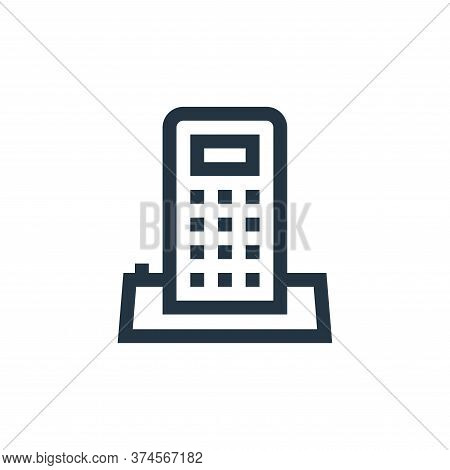 telephone icon isolated on white background from mental health collection. telephone icon trendy and
