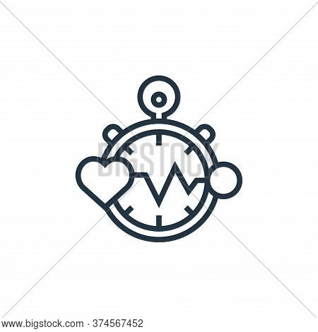 heart rate icon isolated on white background from fitness collection. heart rate icon trendy and mod