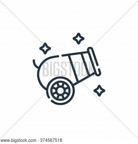 cannon icon isolated on white background from circus collection. cannon icon trendy and modern canno
