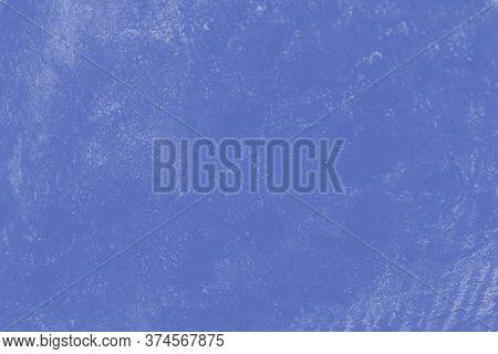 Blue Color Patchy Concrete Background, Beton Texture
