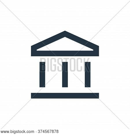 bank icon isolated on white background from user interface collection. bank icon trendy and modern b