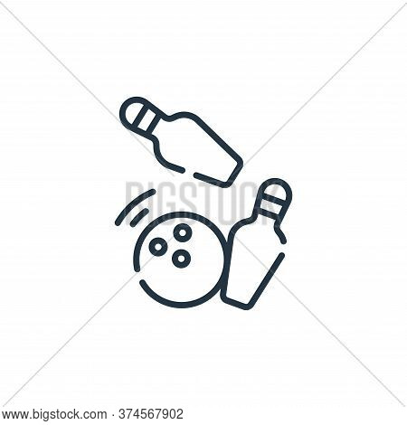 bowling icon isolated on white background from free time collection. bowling icon trendy and modern