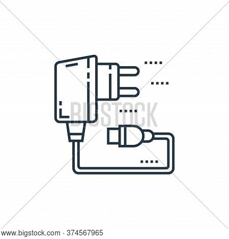 usb charger icon isolated on white background from technology devices collection. usb charger icon t