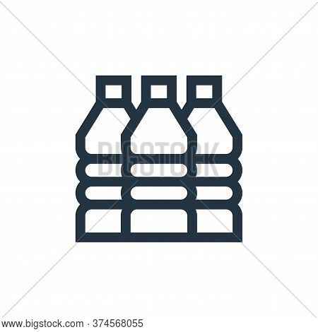 water bottle icon isolated on white background from mother earth day collection. water bottle icon t