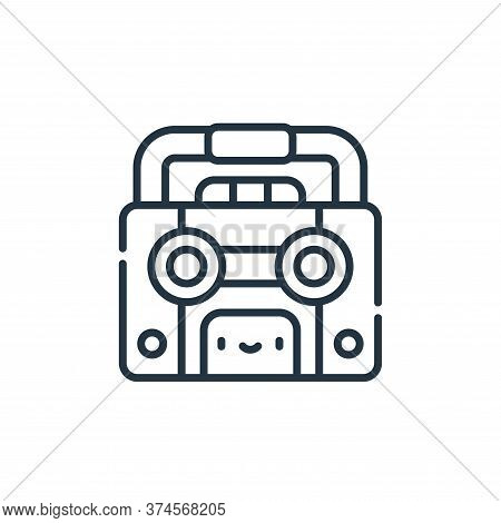 tape recorder icon isolated on white background from reggae collection. tape recorder icon trendy an