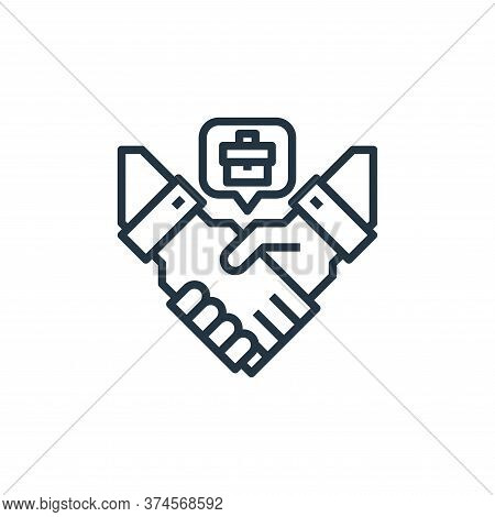 agreement icon isolated on white background from human resources collection. agreement icon trendy a