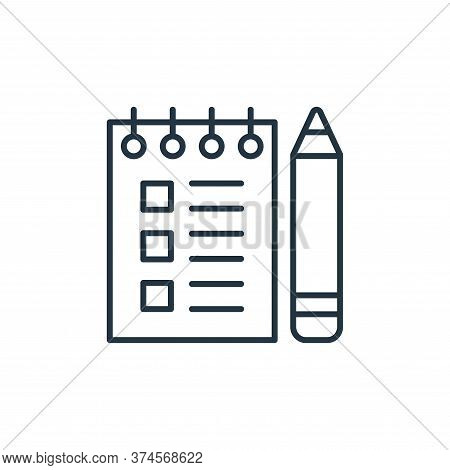 checklist icon isolated on white background from stationery collection. checklist icon trendy and mo