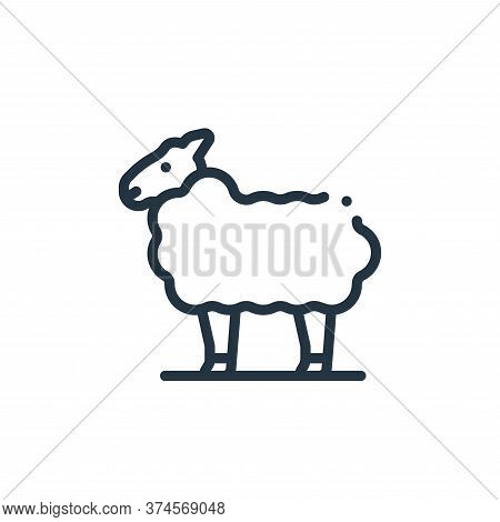 sheep icon isolated on white background from in the village collection. sheep icon trendy and modern