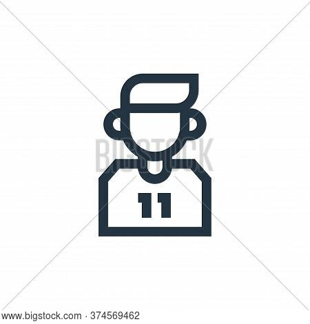 football player icon isolated on white background from soccer collection. football player icon trend