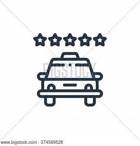 rating icon isolated on white background from taxi service collection. rating icon trendy and modern