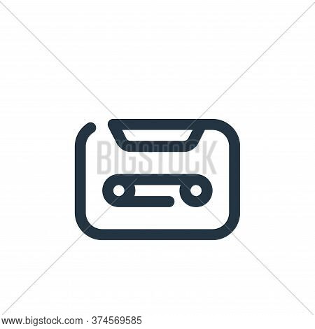 tape icon isolated on white background from multimedia collection. tape icon trendy and modern tape