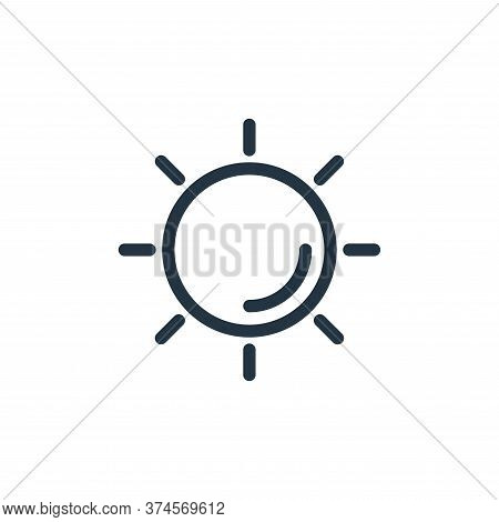 sun icon isolated on white background from holiday collection. sun icon trendy and modern sun symbol