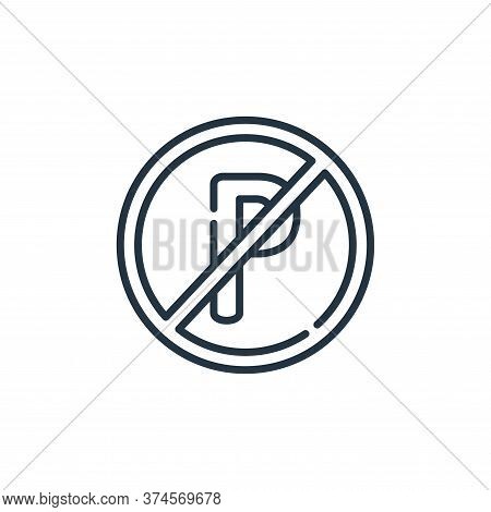 no parking icon isolated on white background from signals and prohibitions collection. no parking ic