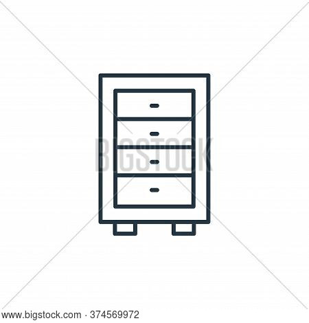 cabinet icon isolated on white background from interiors collection. cabinet icon trendy and modern