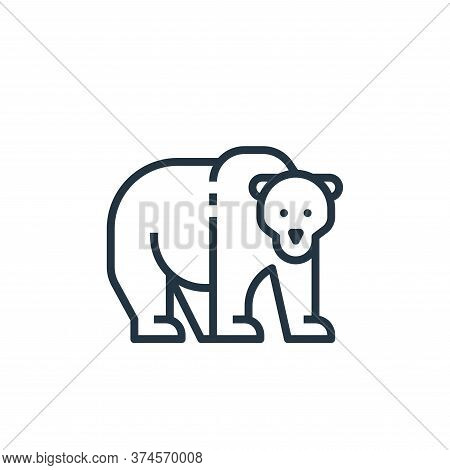 bear icon isolated on white background from camping collection. bear icon trendy and modern bear sym