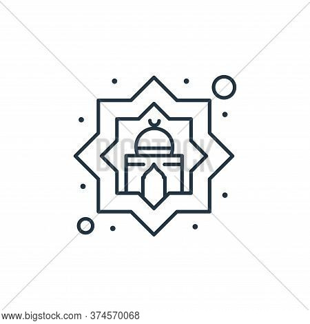 mosque icon isolated on white background from islam and ramadan collection. mosque icon trendy and m