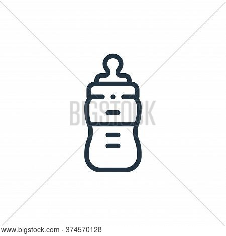 baby bottle icon isolated on white background from plastic products collection. baby bottle icon tre