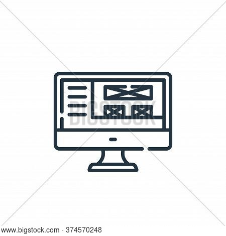 front end icon isolated on white background from web development collection. front end icon trendy a