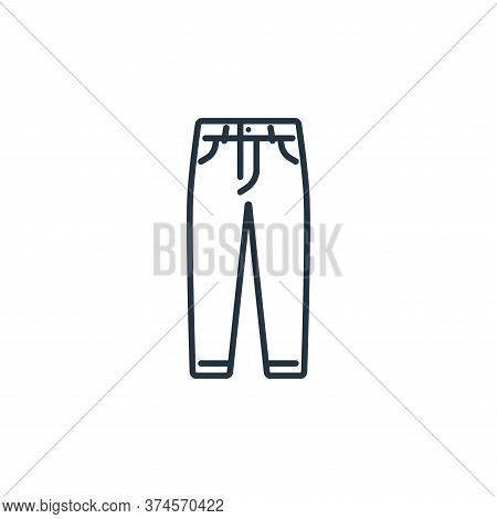 jeans icon isolated on white background from clothes and outfit collection. jeans icon trendy and mo