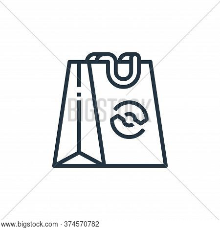 shopping bag icon isolated on white background from recycling collection. shopping bag icon trendy a
