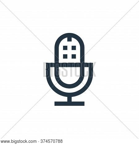 microphone icon isolated on white background from web essentials collection. microphone icon trendy
