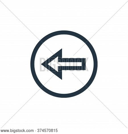 back arrow icon isolated on white background from web essentials collection. back arrow icon trendy