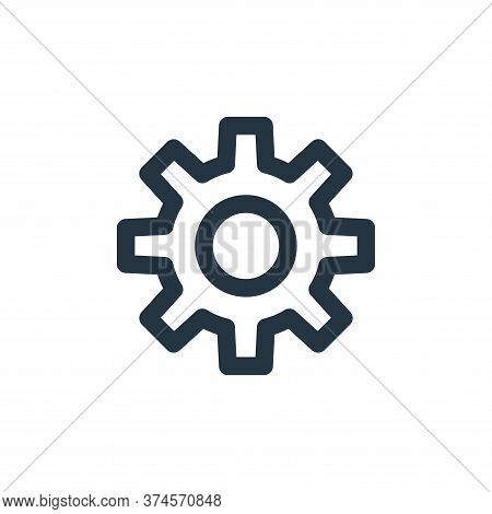 gear icon isolated on white background from marketing business collection. gear icon trendy and mode