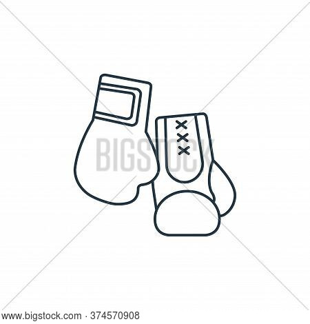 boxing gloves icon isolated on white background from fitness collection. boxing gloves icon trendy a