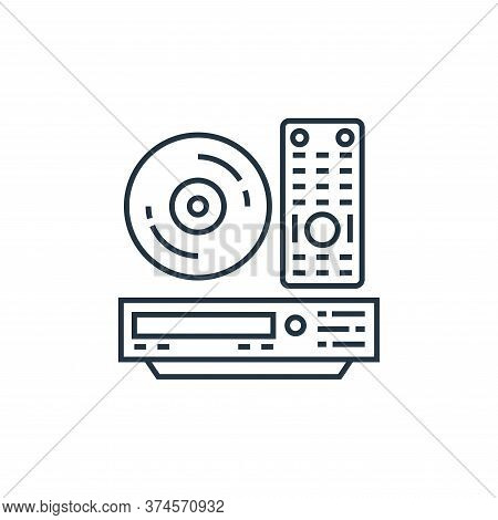 player icon isolated on white background from technology devices collection. player icon trendy and