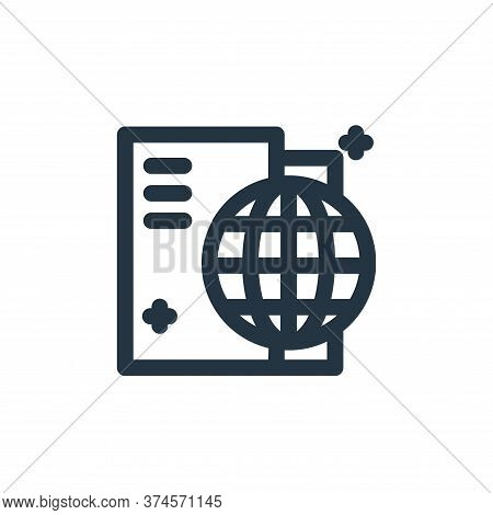 passports icon isolated on white background from coronavirus collection. passports icon trendy and m