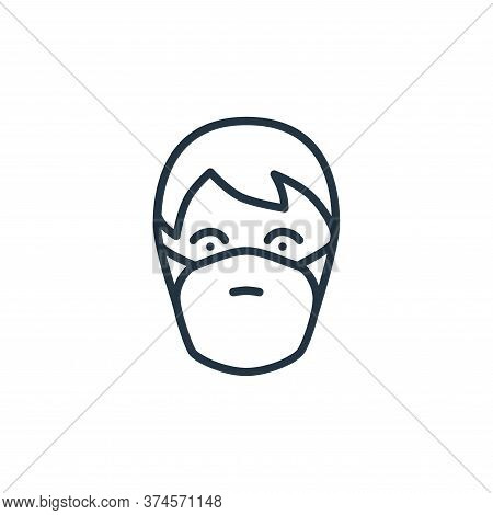 mask icon isolated on white background from stop virus collection. mask icon trendy and modern mask