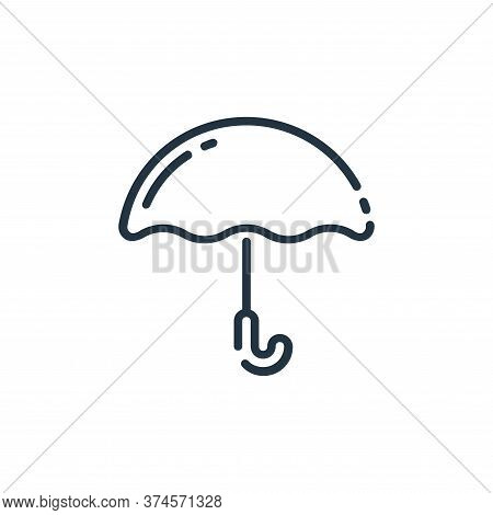 umbrella icon isolated on white background from user interface collection. umbrella icon trendy and
