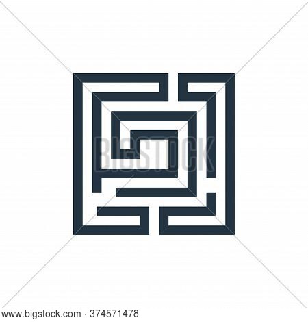 labyrinth icon isolated on white background from video game elements collection. labyrinth icon tren