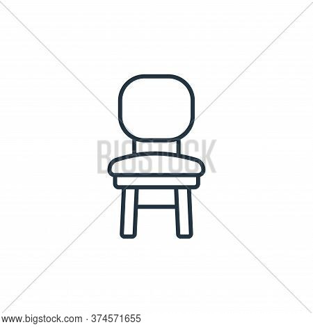 chair icon isolated on white background from interiors collection. chair icon trendy and modern chai